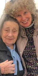 ICEJ: Yudit with Holocaust Survivor Miriam