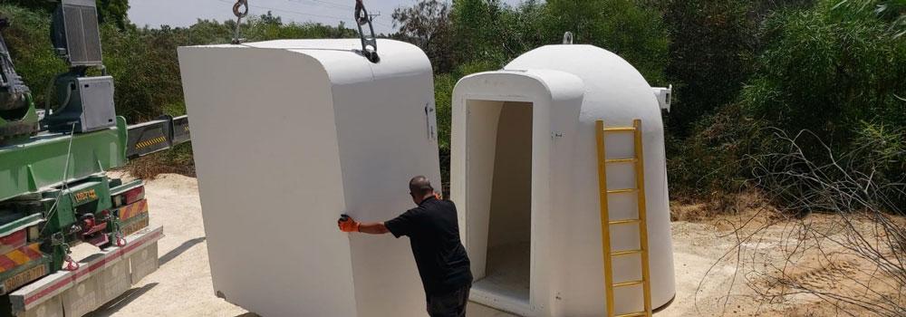ICEJ donates bomb shelter